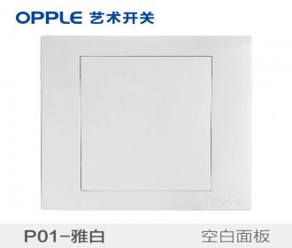 欧普raybet雷竞技黑钱吗opple艺术开关86型P01系列-P015401-86白板
