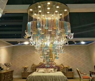工程定制水晶灯大型酒店别墅大厅个性创意会所楼梯展厅灯大堂吊灯