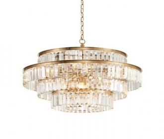 圆形有机玻璃灯轻奢现代客厅吊灯灯具创意大气酒店专用餐吊灯