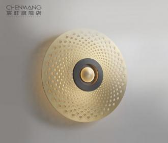 全铜后现代简约装饰壁灯客厅背景墙卧室楼梯间样品房设计师灯具