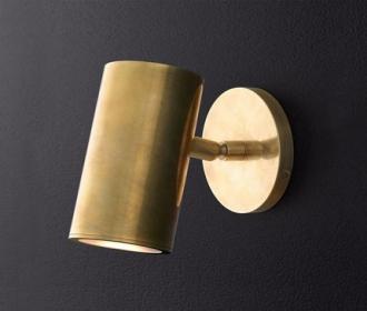 全铜轻奢后现代卧室床头壁灯简约个性过道背景墙壁灯