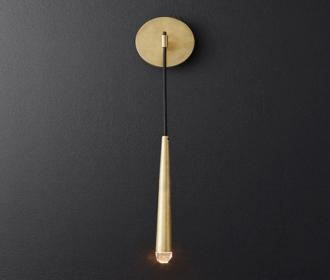 后现代简约铜壁灯客厅餐厅创意卧室床头灯港式轻奢过道灯