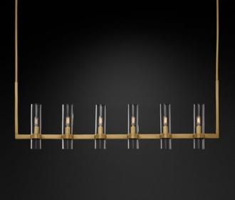 后现代餐厅吊灯港式轻奢别墅吧台灯简约创意全铜灯具