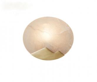 极简欧式纯铜壁灯现代美式卧室背景墙壁灯moon云石样板房走廊壁灯