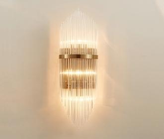 后现代简约水晶壁灯北欧个性创意酒店客厅过道灯餐厅卧室床头灯具
