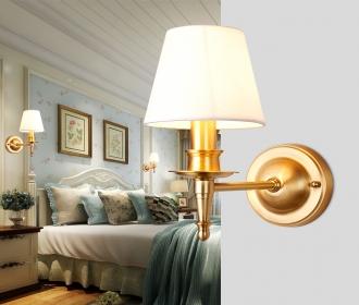 美式创意全铜壁灯欧式壁灯客厅过道阳台卧室床头壁灯书房简约壁灯