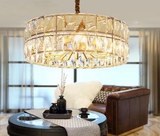 轻奢定制后现代吊灯创意客厅灯圆形餐厅灯具现代简约大厅水晶灯