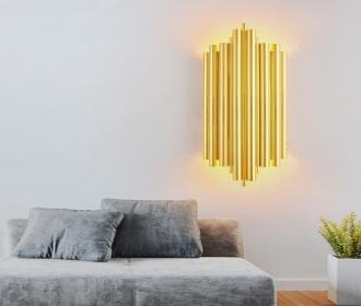 后现代轻奢金色水晶壁灯大气家用客厅影视墙灯现代简约卧室床头灯
