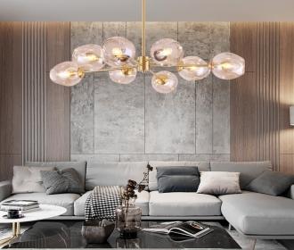 全铜吊灯客厅后现代家居时尚简约个性设计师样板房餐厅卧室全铜灯