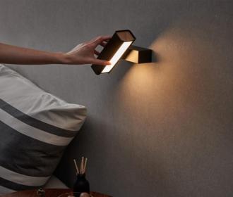 简约书房壁灯后现代酒店卧室床头LED可旋转设计师艺术阅读壁灯