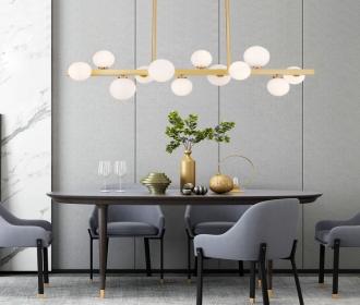 北欧魔豆吊灯后现代简约餐厅书房酒店咖啡厅创意设计师全铜灯具