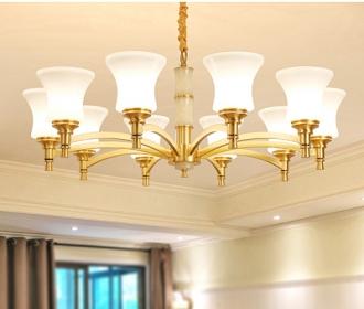美式全铜吊灯欧式全铜吊灯客厅灯吊灯餐厅吊灯卧室吊灯别墅全铜灯