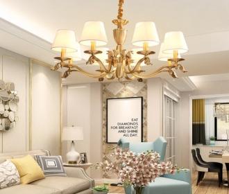 美式客厅吊灯简约现代家用卧室灯全屋套装配套灯具必备爆款大灯