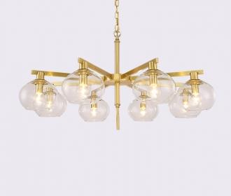 美式客厅餐厅时尚个性吊灯样板房简约现代创意全铜吊灯设计师灯饰