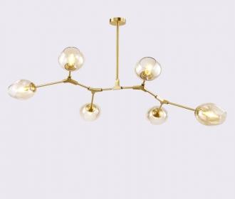 后现代全铜吊灯个性创意玻璃球客厅餐厅灯设计师简约样板间艺术灯